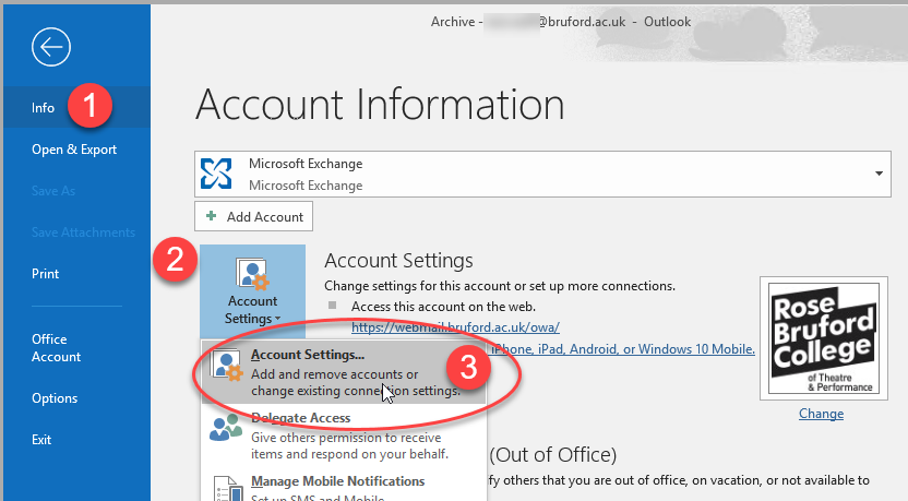 how to add archive folder in outlook 2016
